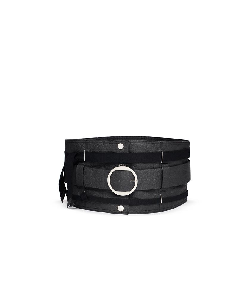 ceinture cuir noire vegan