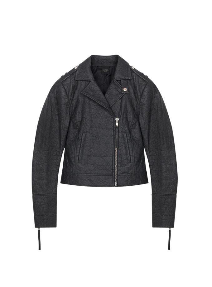 veste cuir noire vegan