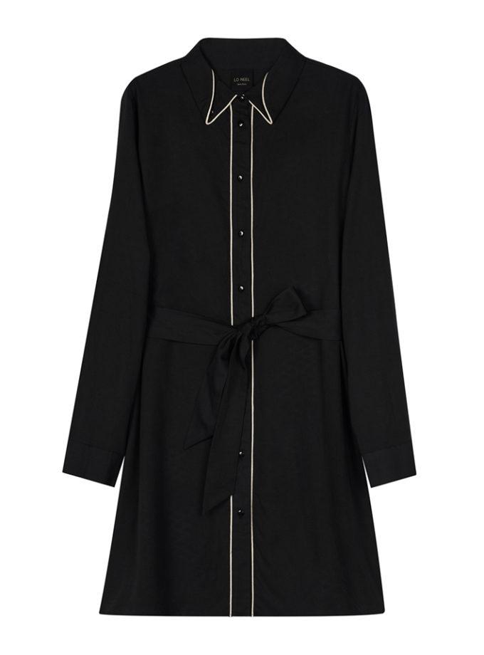 robe longue noire vegan