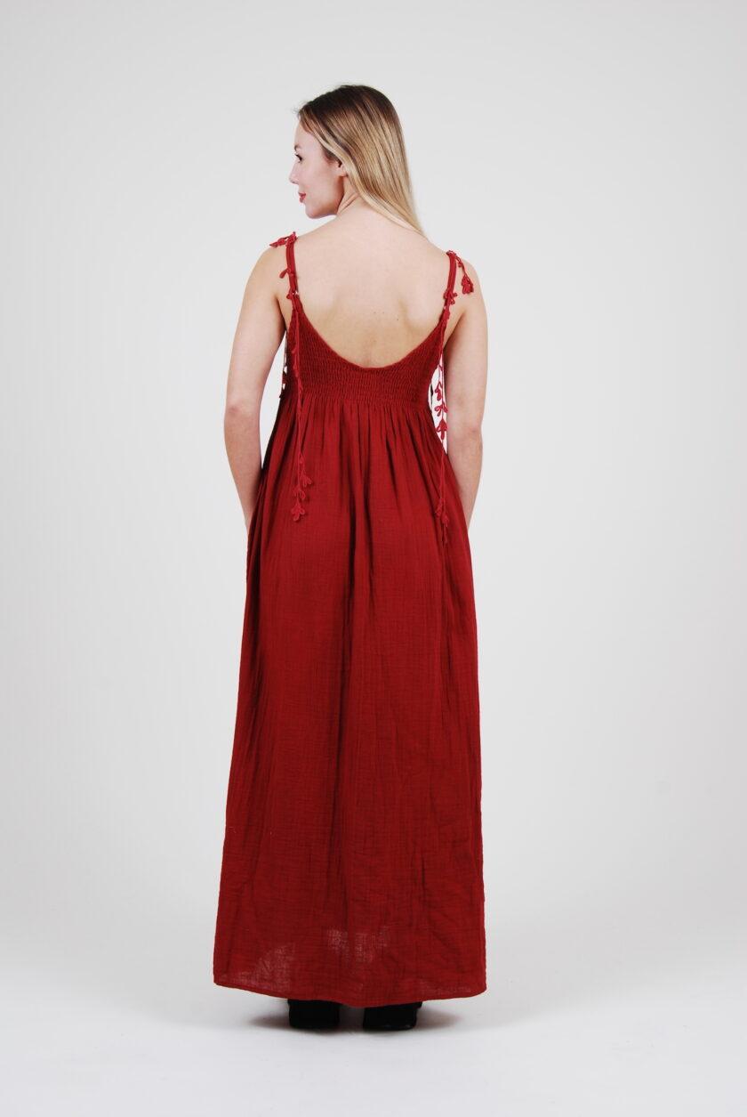 robe Barbara lien plume de paon fait main